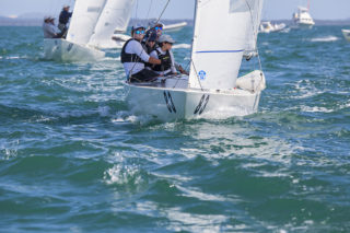 Just back in to Etchells is Kirwan Robb with his crew of Darren Jones, Same Tiedermann and Hugo Allison.